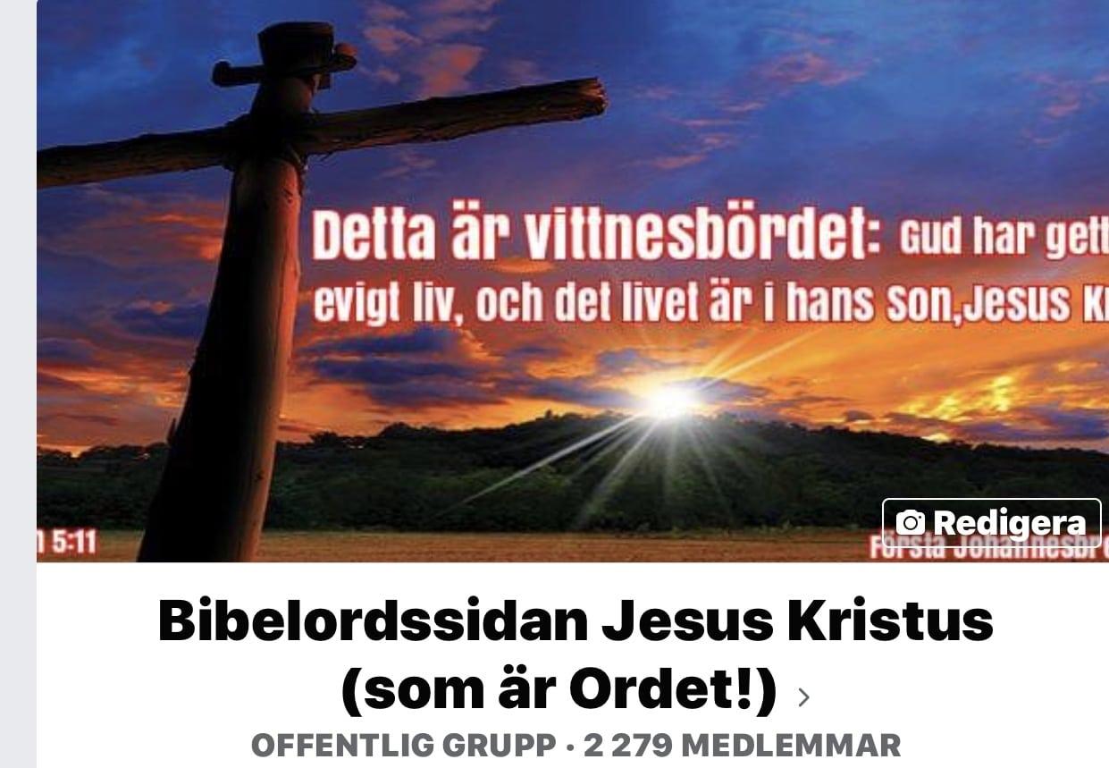 Följ Bibelordssidan: Jesus Kristus (som är Ordet)